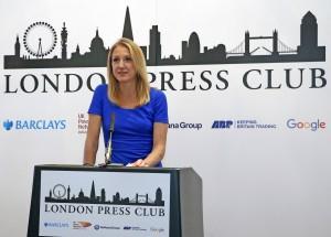 London Press Club Annual Awards. Paula Radcliffe. PICTURE BY: NIGEL HOWARD © email: nigelhowardmedia@gmail.com