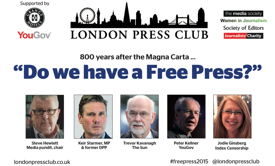 Top panel prepare to answer: 800 years after the Magna Carta, do we have a free press?